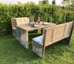 Rustikke havemøbler af genbrugstræ